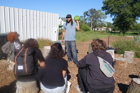 Emmanuel Pratt, The Sweetwater Foundation, at the There Grows the Neighborhood pilot project